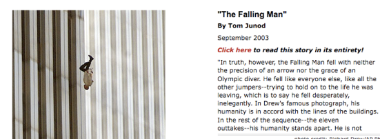 Article about the Falling Man in Esquire