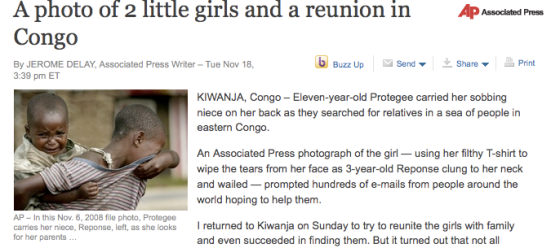 Article about the Congolese girls