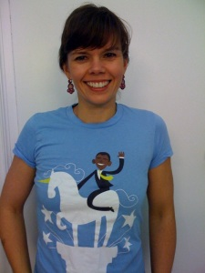 Obama on the white unicorn and me